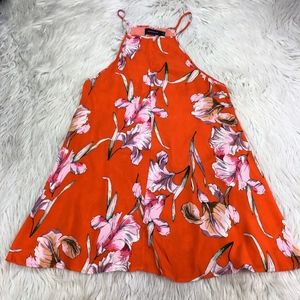 MINKPINK Tropical Floral High Neck Trapeze Shift